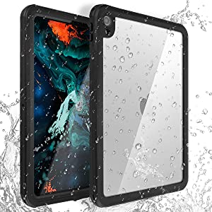 IPad Pro 11 Inch Waterproof Cases,AICase IP68 360 Degree Slim Dual Layer Armor Defender Shockproof Protective Case with Kickstand Lanyard for iPad Pro 11