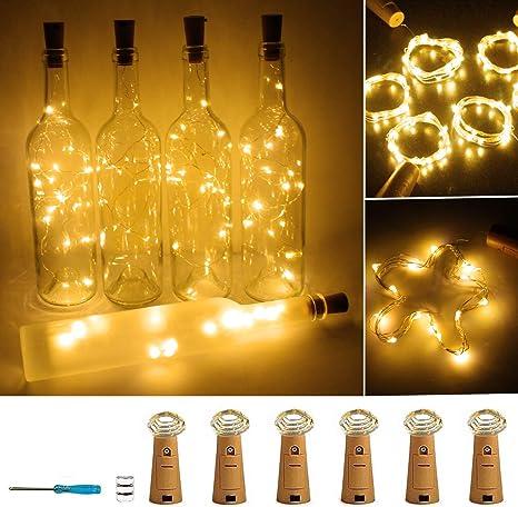 Wine Bottle Fairy String Light Battery Cork Shaped 20LED Christmas Wedding Party