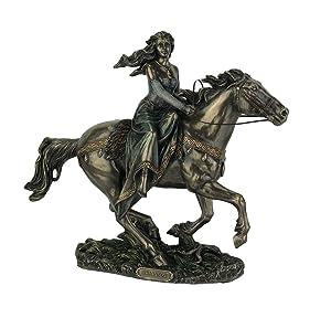 Rhiannon - Celtic Goddess on Horse Statue
