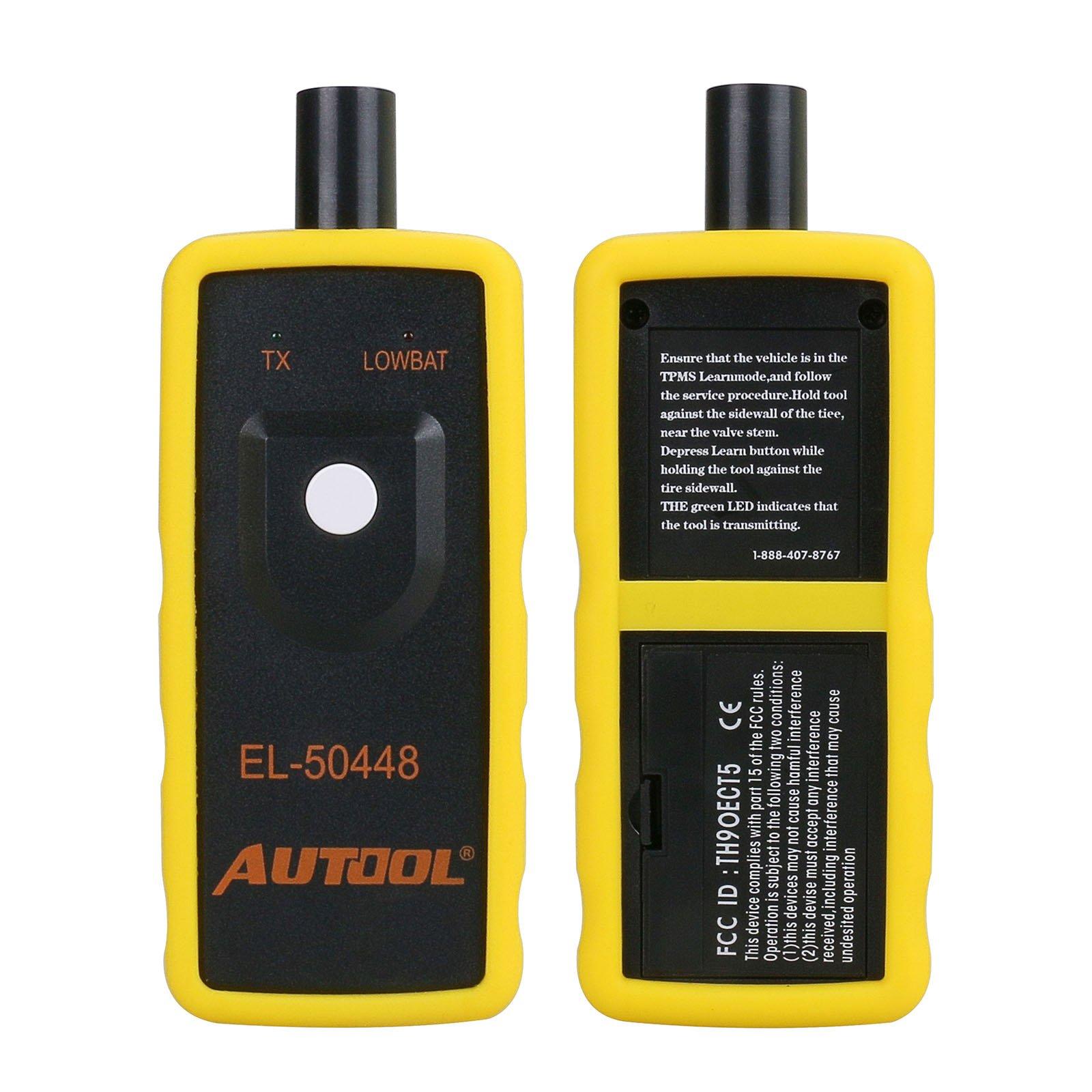 AUTOOL EL-50448 Automotive Tire Pressure Monitor Sensor Activation Tool TPMS Reset 315MHZ and 433MHz Car Tyre Pressure Monitoring System Reset Tools by AUTOOL