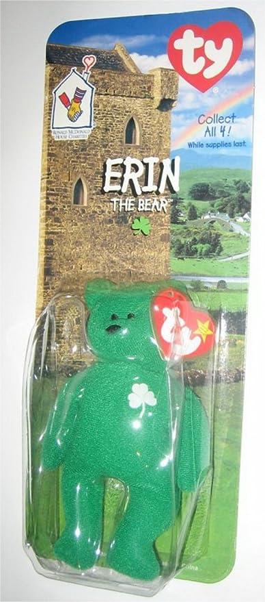 Amazon.com  1 X TY Erin the Bear McDonalds Teenie Beanie - NEW ... c78452b0c5e