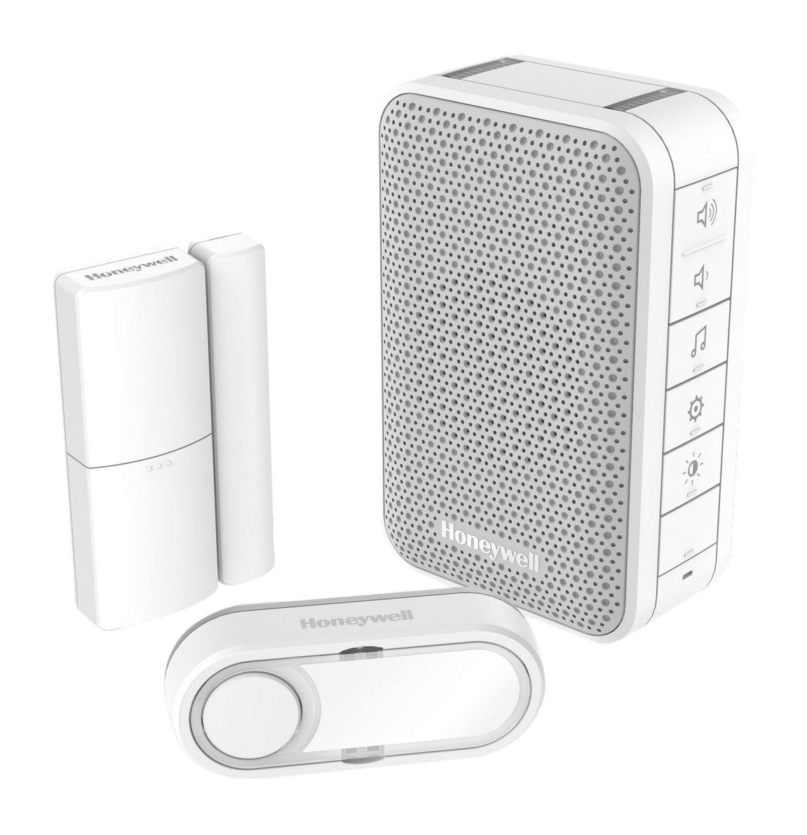 Honeywell 302200204 Set timbre inalámbrico, pulsador y detector puerta: Amazon.es: Bricolaje y herramientas