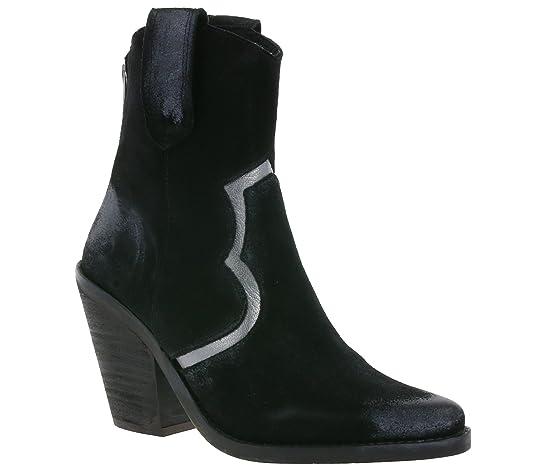 Buffalo Schuhe Echtleder Cowboy Stiefeletten