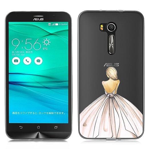 2 opinioni per Asus ZenFone Go ZB551KL Cover , YIGA Ragazza Gonna Indietro Trasparente Silicone