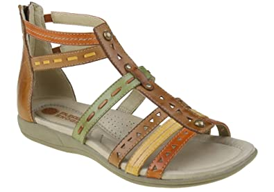 f854be687bf Image Unavailable. Planet Shoes Carlota Womens Leather Gladiator Sandals  Cushioned Arch Support