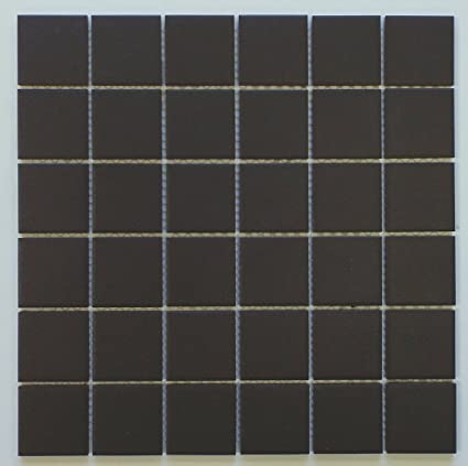 Vintage Black Unglazed Square X Inch Porcelain Floor Wall Tile - 2 x 2 inch ceramic tiles