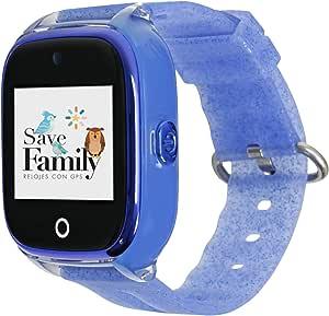 Reloj con GPS para niños SaveFamily Infantil Superior acuático Ip67 con cámara. Botón SOS, Anti-Bullying, Chat Privado, Modo Colegio, Llamadas y Mensajes. App SaveFamily.