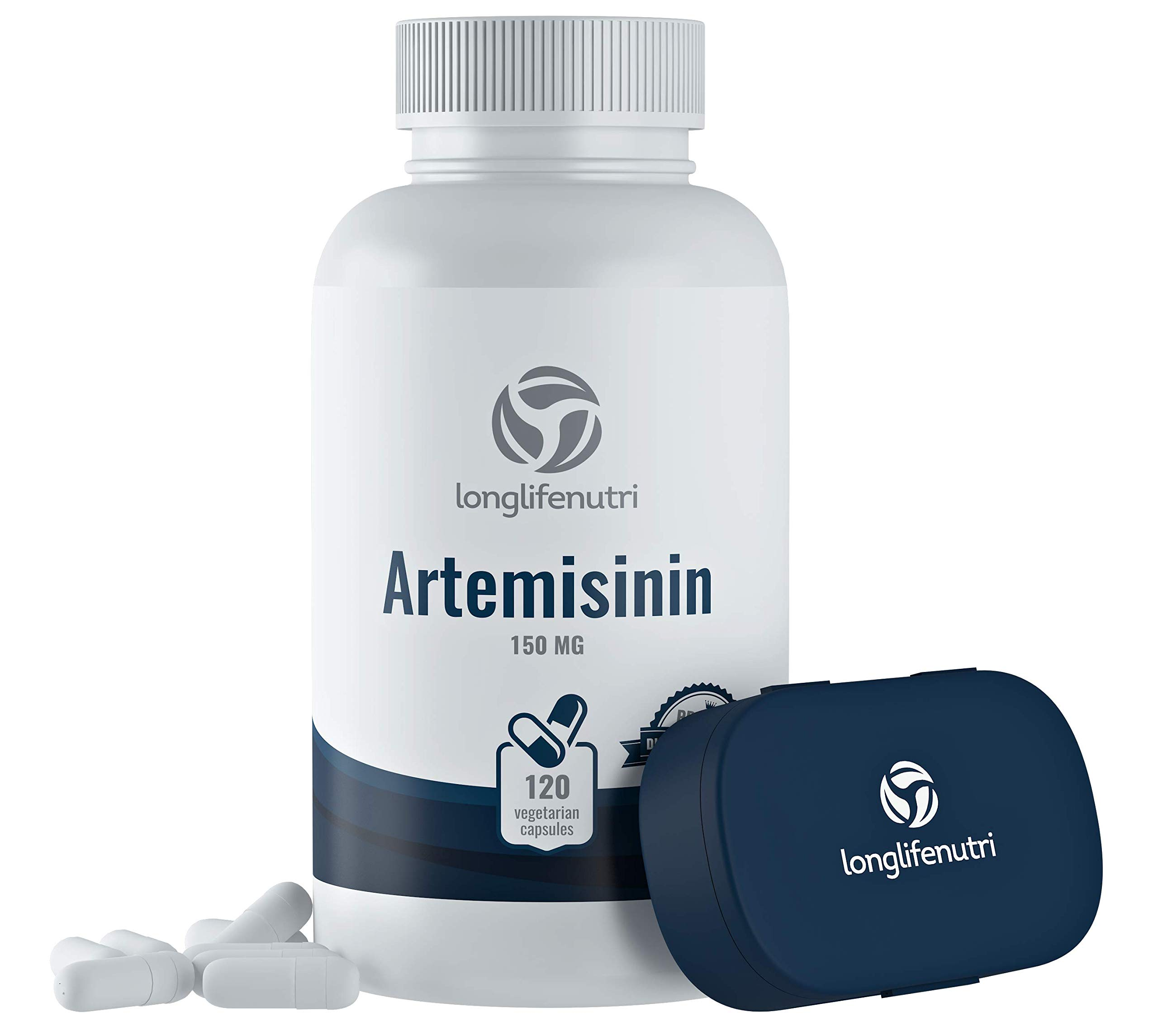 Artemisinin 150mg - 120 Vegetarian Capsules | Made in USA | 4 Months Supply | Supports Healthy Aging and Cell Repair Supplement | Pure Sweet Wormwood Extract 150 mg SuperComplex Powder Pill
