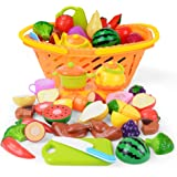 NextX おままごと おもちゃ 収納バスケット付き サクッと切れる 野菜 果物 イチゴ サカナ ごっこ遊び 女の子 男の子