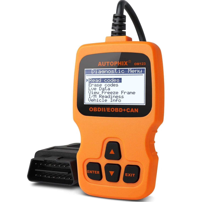 OBD2 Scanner, AUTOPHIX Auto Code Reader OM123 Universal OBDII Vehicle Check Engine Fault Code Reader CAN Diagnostic Scan Tool for Automobiles Error Codes Eraser -Orange