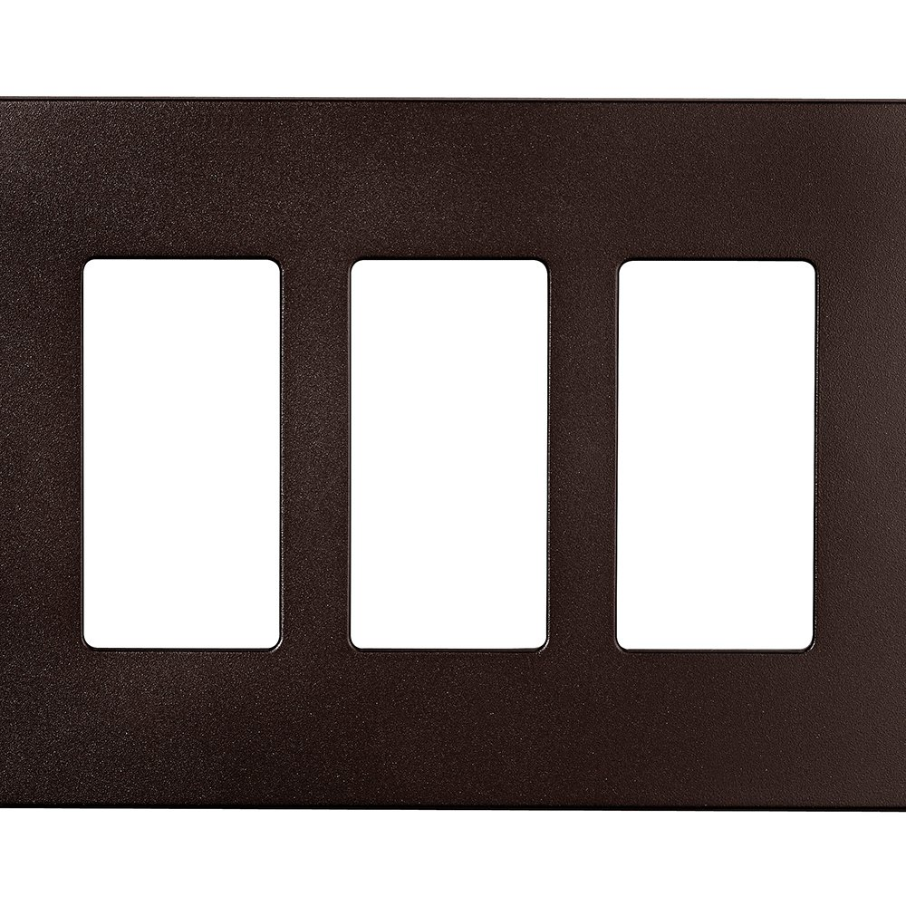 Eaton PJS263RB-SP-L Designer 3-Gang Screwless Wallplate, Oil Rubbed Bronze by Eaton