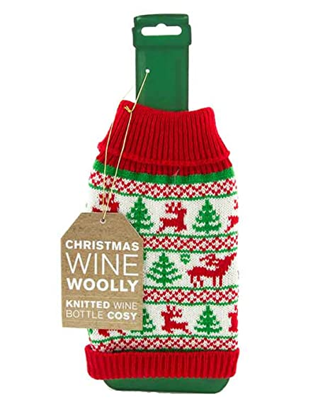 Christmas Jumper Wine Bottle Cover Amazon Kitchen Home