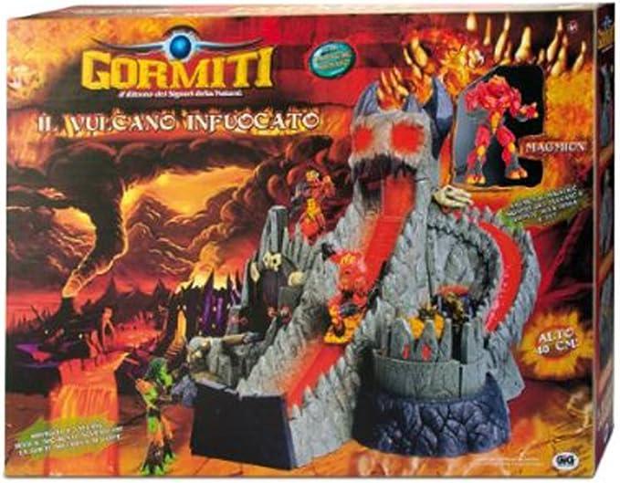 Gormiti Señores Retorno Naturaleza Flaming Volcán con Magmion articulado de 12 cm: Amazon.es: Juguetes y juegos