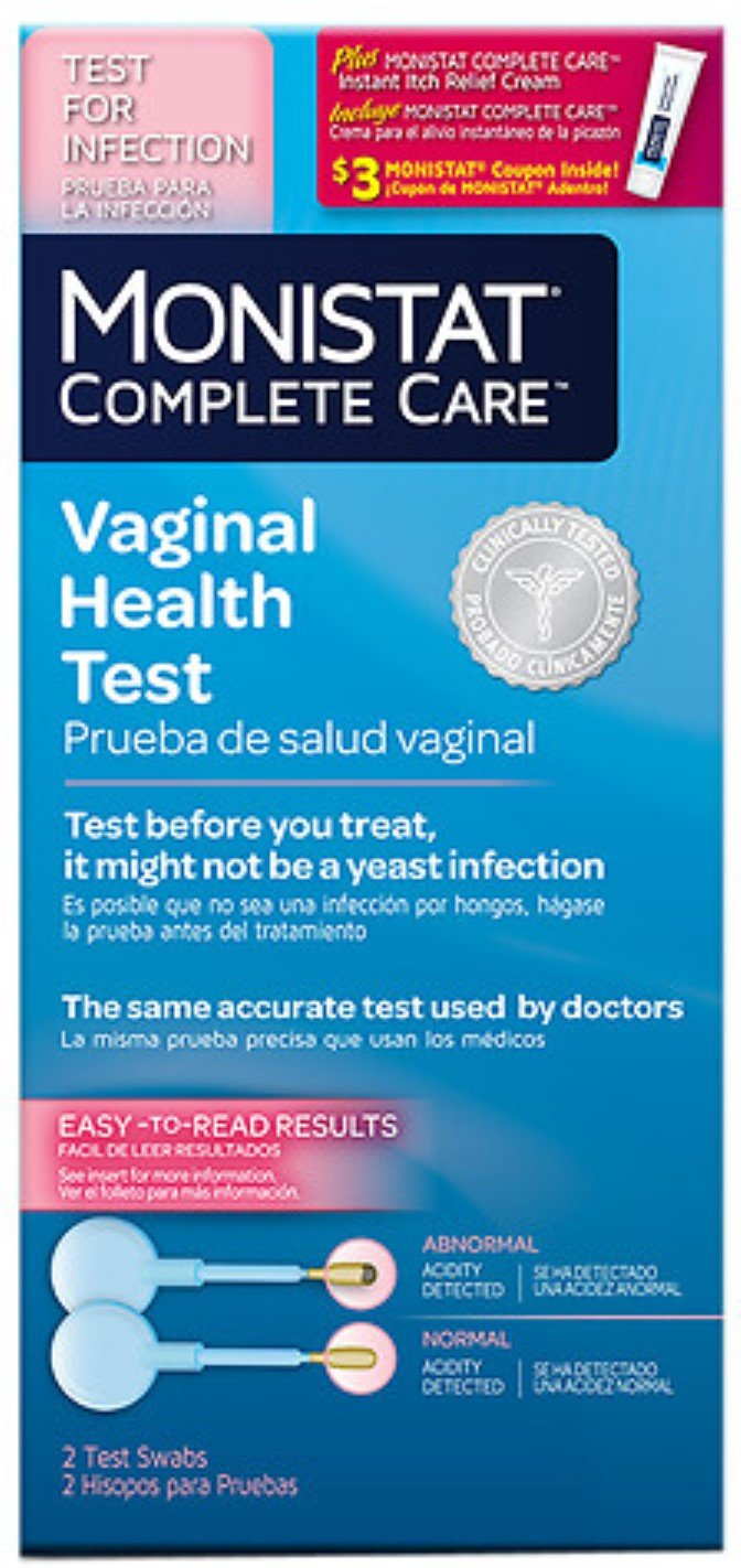 MONISTAT Complete Care Vaginal Health Test + Itch Relief 2 ea (Pack of 8)