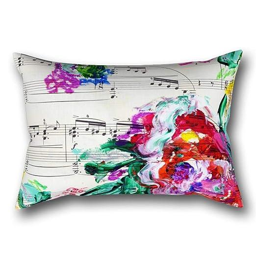 GYTOP Funda Cojín Musical Belleza Floral Abstracta Piano ...