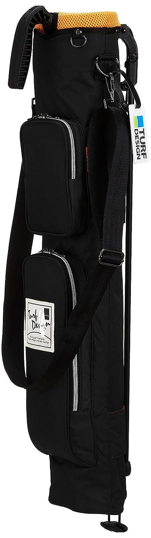 [ターフデザイン] クラブケース ミニスタンドクラブケース/付属品:ショルダー、ネームプレート/ TDMS-1772 B076BQ4P74 ブラック ブラック