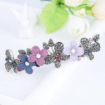 Retro Beautiful Metal Crystal Flowers Hairpin Rhinestone Butterfly Hair Clip /'