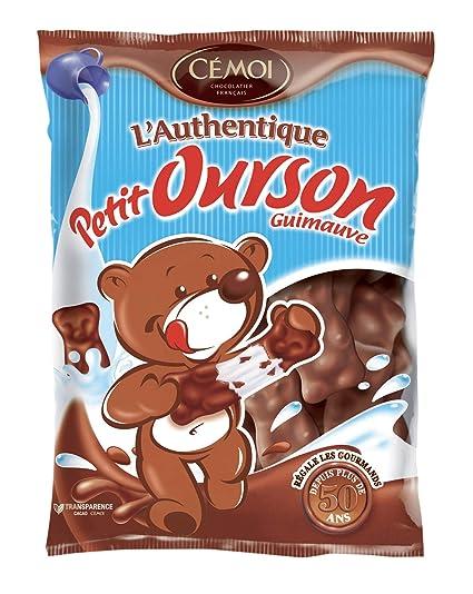 Cémoi Sachet l Authentique Petit Ourson Guimauve au Chocolat au Lait 180 g  - Lot 06cdcb9ed4a