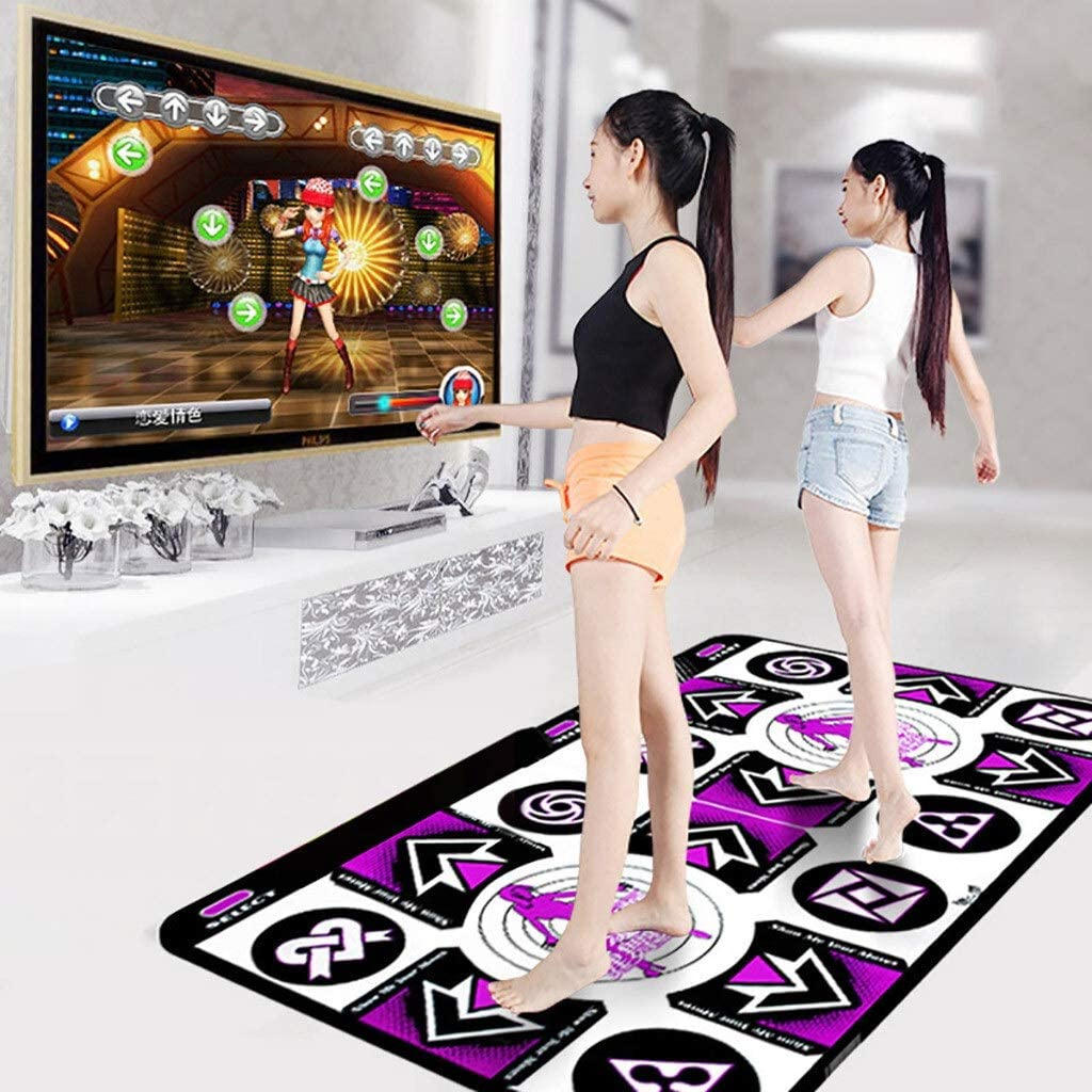 Double Dancing Mat Non-Slip Wireless Dancer Step Pads with 150 Games and AUX Music,Sense Game for PC TV for 2 Person Dance Mat for Kids Adults Elasticity and Sensitivity