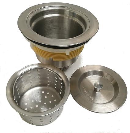 Auric Sinks 3-1/2-inch Kitchen Sink Stainless Steel Drain ...