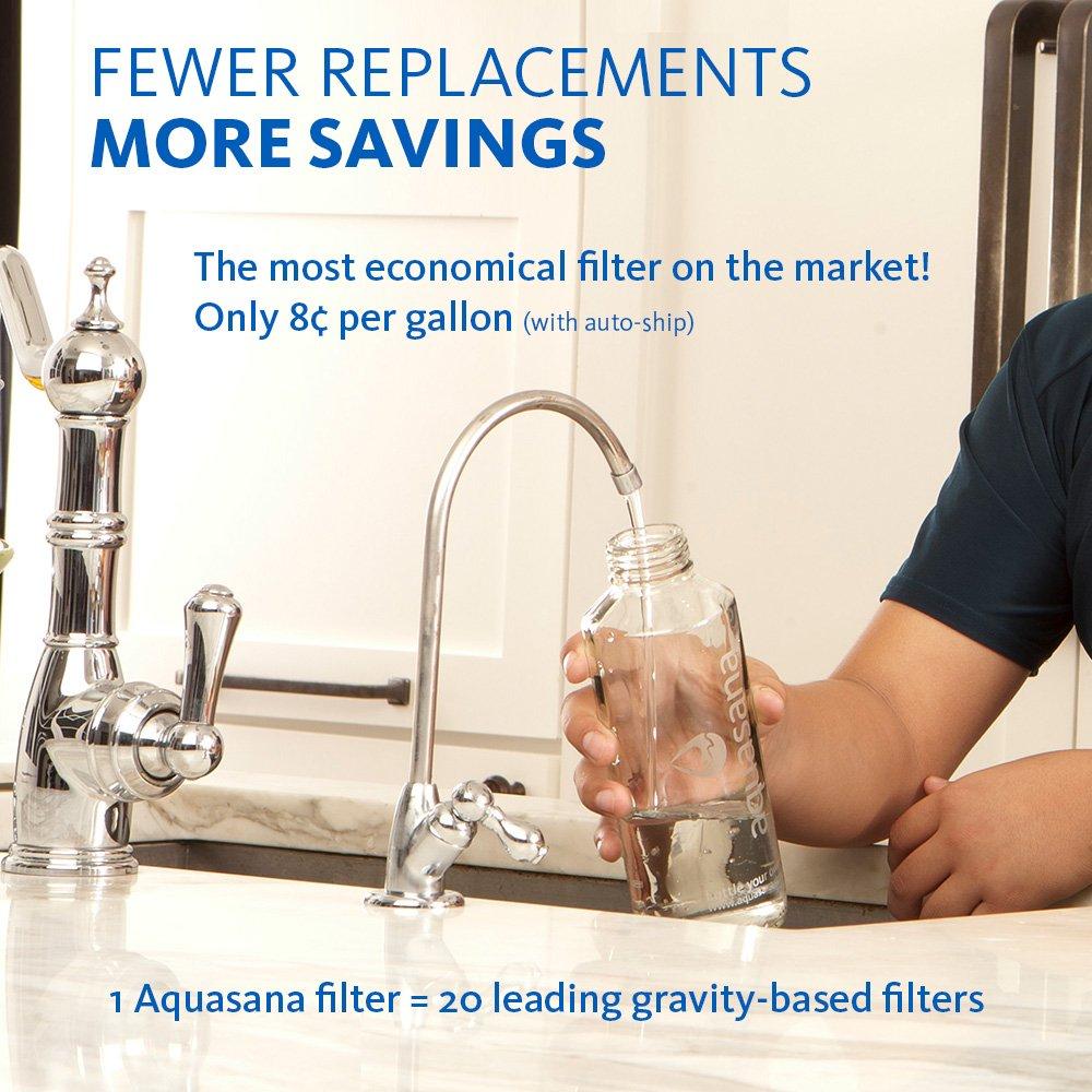 Aquasana aq-5300 + .55 de flujo máximo debajo del fregadero filtro de agua de 3 etapas con níquel cepillado grifo: Amazon.es: Bricolaje y herramientas