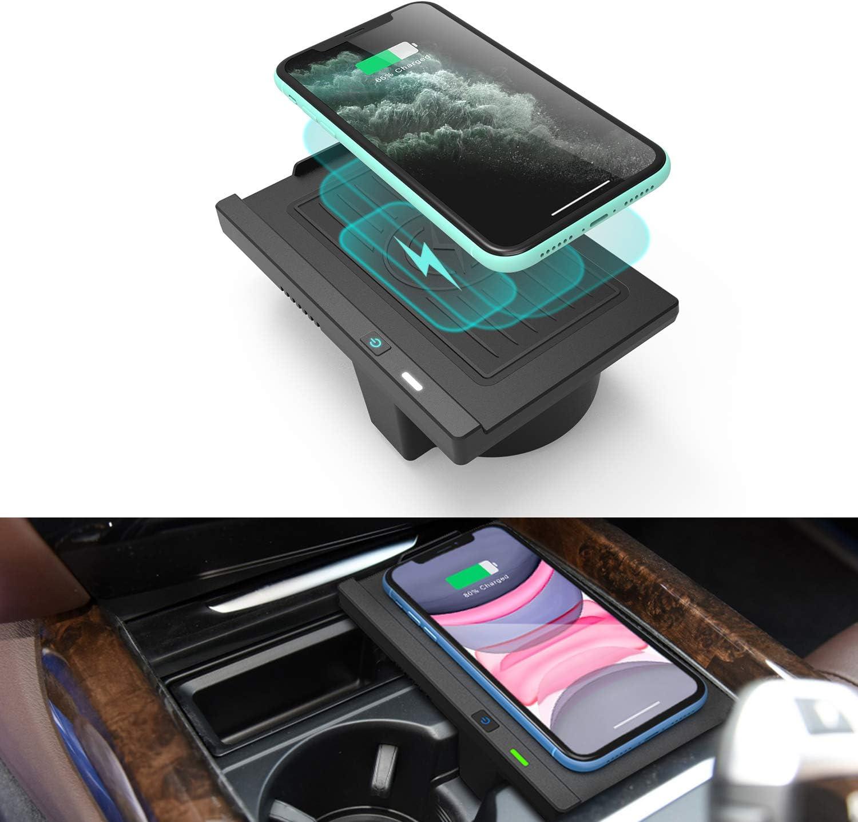 CarQiWireless Wireless Charger for BMW X5 F15 X6 F16 2014 2018, Wireless Charging Pad for BMW X5 F85 X6 F86 Accessories 2018 2017 2016 2015 2014 2013