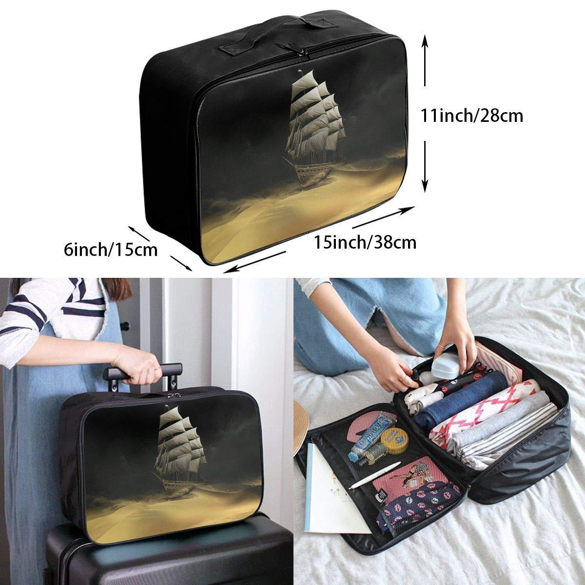 Travel Luggage Duffle Bag Lightweight Portable Handbag Boat Large Capacity Waterproof Foldable Storage Tote