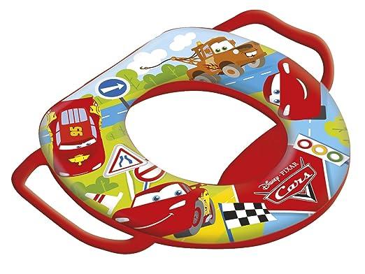 6 opinioni per Lulabi Disney Cars Baby Riduttore WC Morbido con Maniglie, Rosso