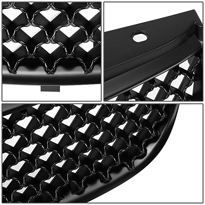 Amazon Com For Chevy Malibu Abs Plastic Mesh Front Upper Bumper