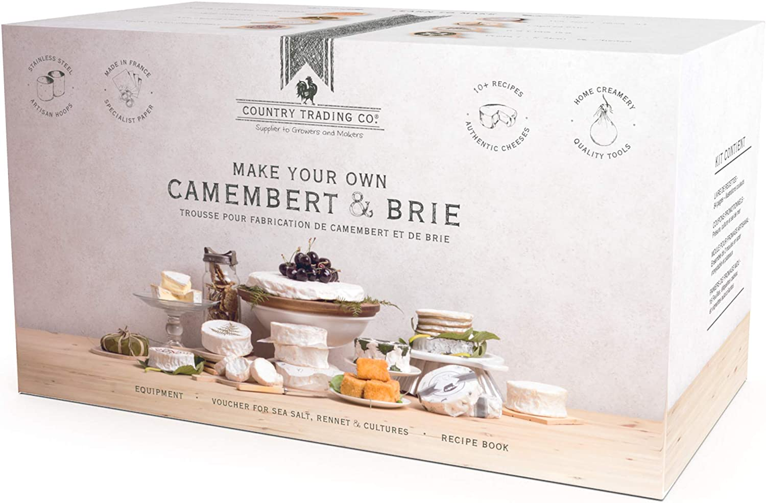 Deluxe Cheese Making Kit: Make Homemade Brie and Camembert with the Ultimate DIY Cheesemaking Starter Pack