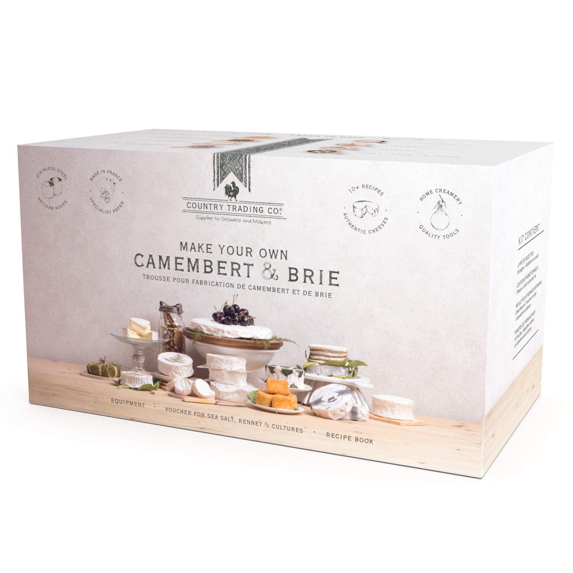 Deluxe Cheese Making Kit: Make Homemade Brie and Camembert with the Ultimate DIY Cheesemaking Starter Pack by Country Trading Co.