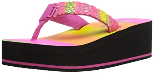 Amazon.com | Skechers Kids Sunny Chic Thong Sandal (Little ...