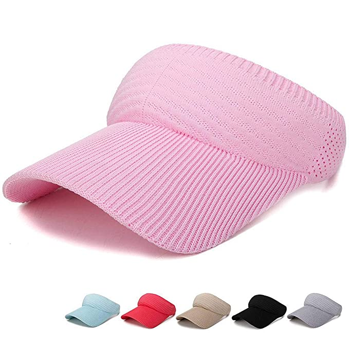 44e9c4231 Sun Visor Hat for Women, Summer Breathable Baseball Sports Hat Soft ...