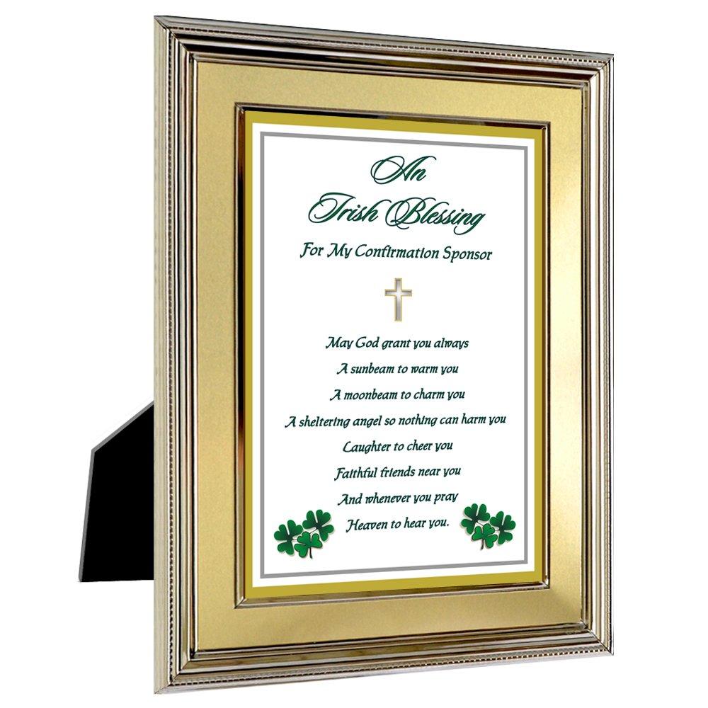 Amazon.com - Confirmation Sponsor Gift - Irish Blessing in 5x7 Inch ...