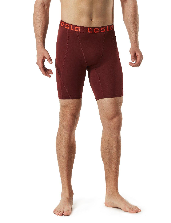 TSLA Mens Compression Shorts Baselayer Cool Dry Sports Tights