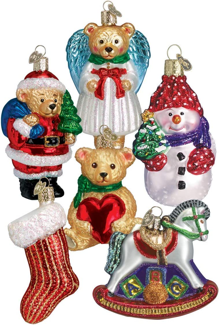 Old World Christmas Ornaments: Child's First Christmas Coll Glass Blown Ornaments for Christmas Tree