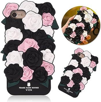 3d romantique roses Coque iPhone 6 Plus/6S Plus, Cartoon Lapin ...