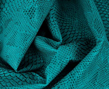 1 Metro de Polipiel para tapizar, Manualidades, Cojines o forrar Objetos. Venta de Polipiel por Metros. Diseño Drak Color Turquesa Ancho 140cm