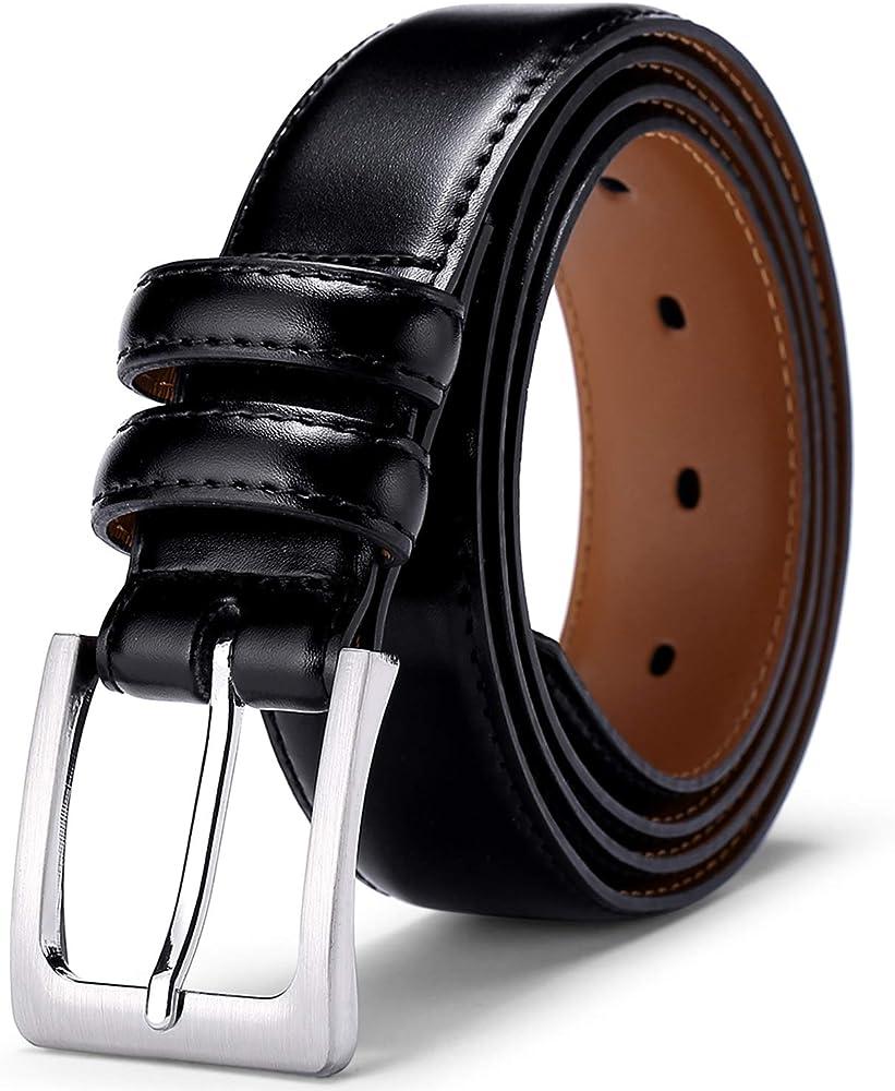 Men/'s Casual Dress Leather Belt