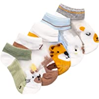 Ola Koala 5 Pairs Socks for Baby/Toddler/Kid Boys Girls; No Show Ankle Kid Socks; Ultra Soft Cotton Thin Mesh Infant…