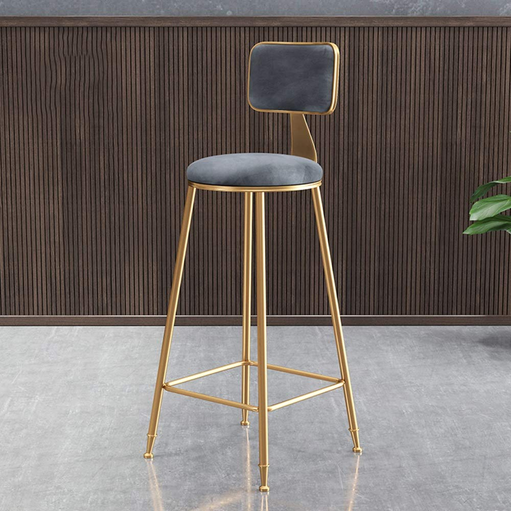 4 434545cm Bar Chair, Dining Chair Kitchen Wrought Iron Stool bar Stool high Stool Multi-color Optional HPLL (color   4, Size   43  45  45cm)