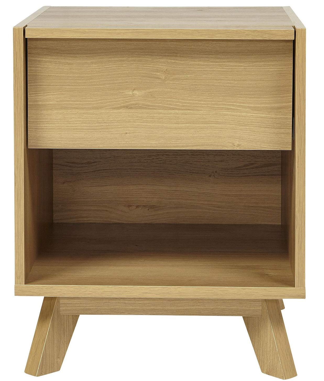 Tesco NEW Flores 1 Drawer Bedside Table - Oak-Effect Finish