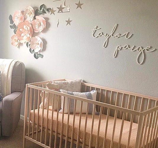 Amazon Com Paper Flowers Nursery Wall Decor Neutral Blush Pink