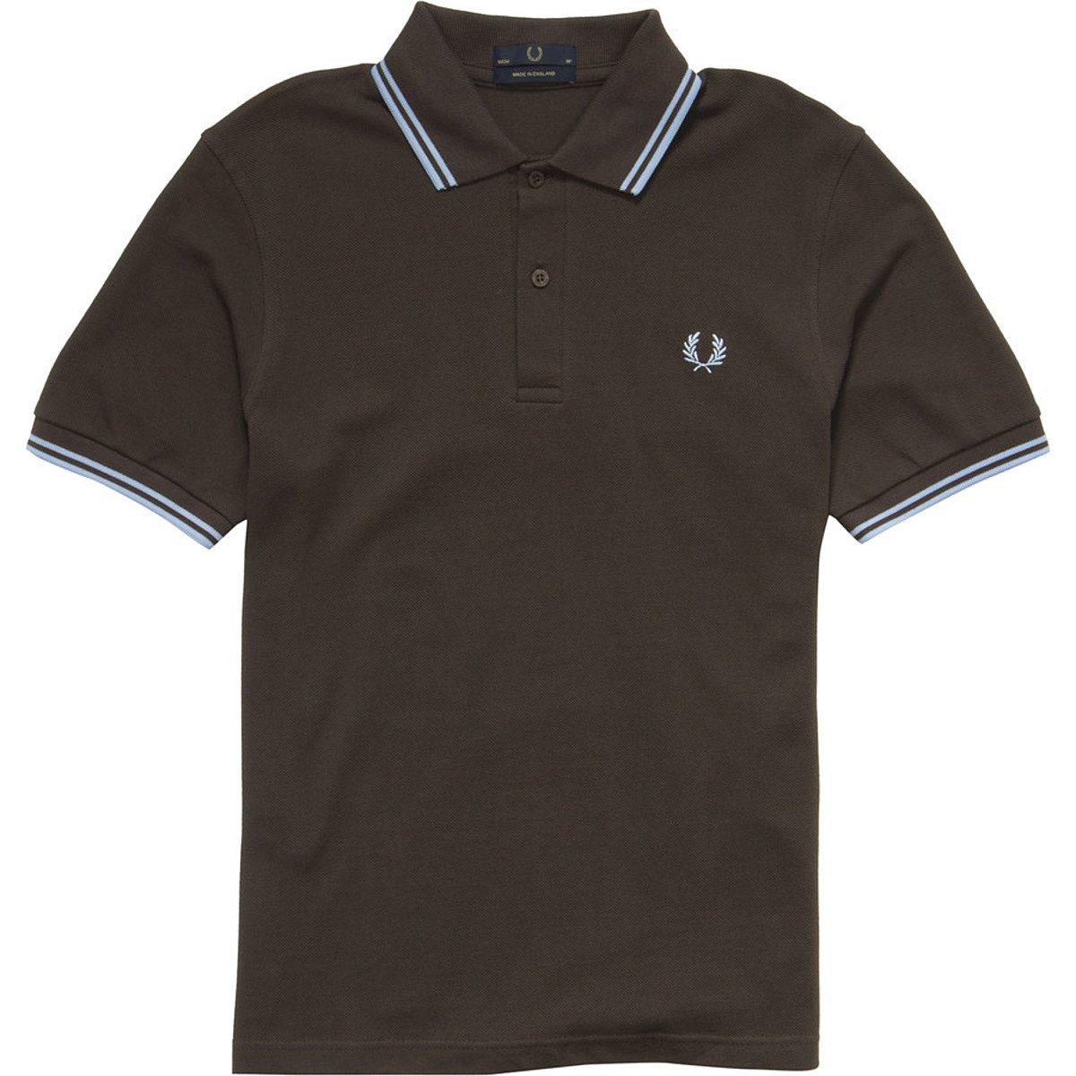 [フレッドペリー]ポロシャツ TWIN TIPPED FRED PERRY SHIRT M12N メンズ B003Z9ESSI XXL/46|Chocolate/Ice Chocolate/Ice XXL/46