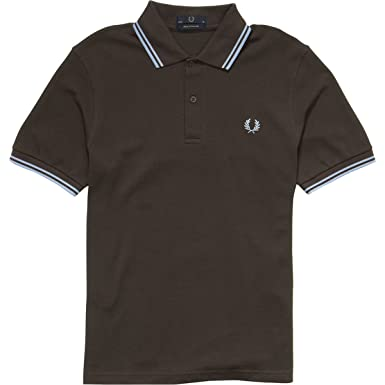 a53815e71 Image Unavailable. Image not available for. Colour  Fred Perry Mens M12  Original Twin Tipped Polo Shirt (Made in England) ...