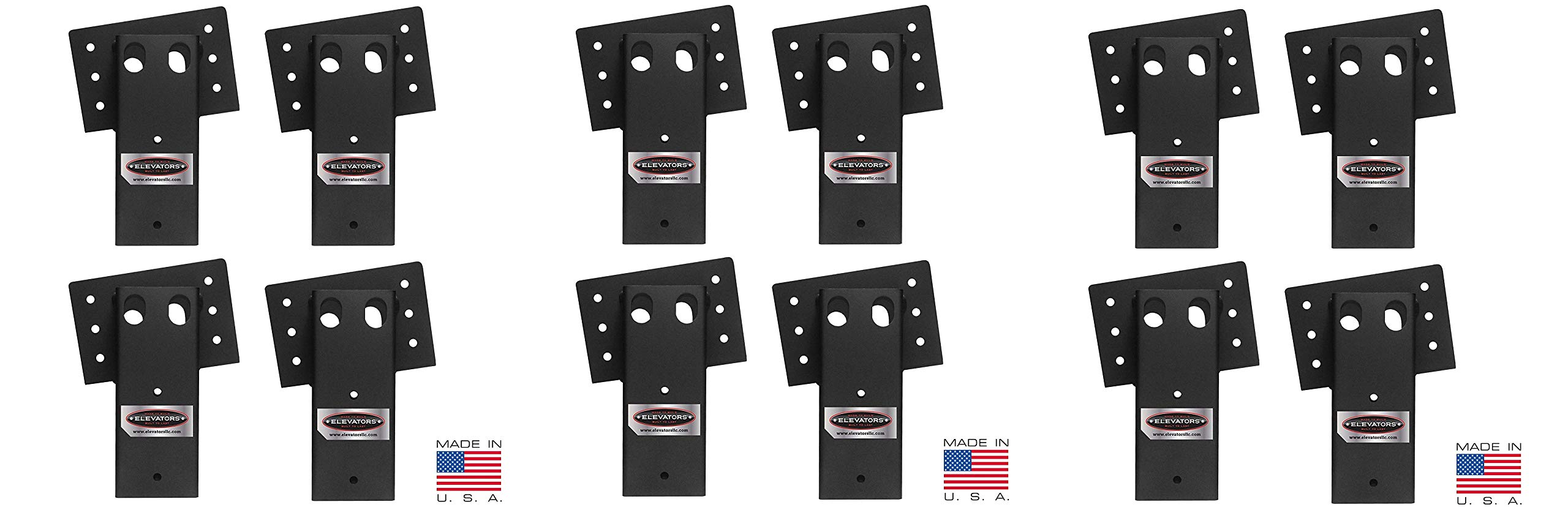 Elevators 4x4 Brackets for Deer Blinds, Playhouses, Swing Sets, Tree Houses. Made in The USA with Premium Construction Grade Steel (3 X Pack of 4)