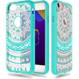 iPhone 7 [4.7''] Case - Anwish Mint Mandala Totem Series Hybrid Protective Case with Soft TPU Bumper +Hard Back Cover [Scratch Resistant] Cover Case for iPhone 7
