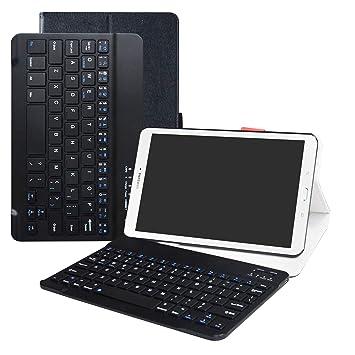 772e013d108 LFDZ Galaxy Tab E 9.6 Bluetooth Teclado Funda, [Detachable] Bluetooth  Teclado Ultra Slim