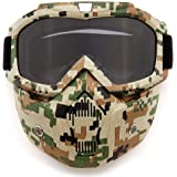 SPOSUNE Motorcycle Goggles Detachable Face Mask, ATV Dirt Bike Off Road Racing Motocross MX Riding Paintball Goggle Anti…