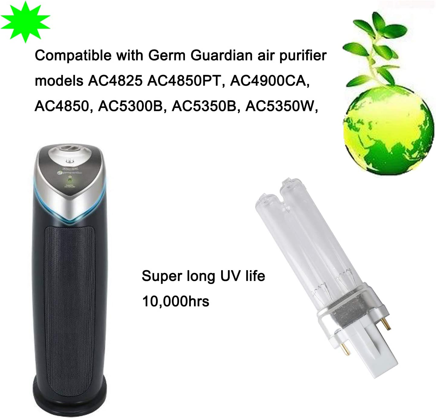 LB4000 Replacement UV-C Bulb Compatible with GermGuardian